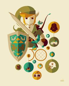 Link | The Legend of Zelda by Tom Whalen