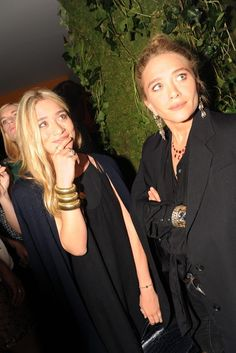 Mary Kate and Ashley Olsen.. I have always been a huge fan of them!! They look so much younger and prettier if they would smile more like MK is instead of looking sad all the time in their photos..
