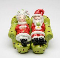 2.88 Inch Santa And Mrs. Claus Rest Salt, Pepper