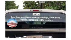 Four Americans were murdered in Libya, by Muslims. Obama apologized to the Muslims.