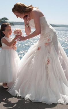 Gorgeous A-line Floor-length Strapless Wedding Dress, Wedding Dresses Online