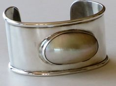 VINTAGE STERLING SILVER  Biwa Pearl Cuff by TheButterflyBoxdeitz, $141.00