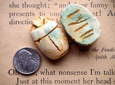 Giant 25x35mm Matte Blue Green and Brown Egyptian Soapstone Scarab Bead