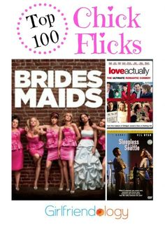 Top 100 chick flicks - from A-Z, 100+ movies that women love! Plus more :) Also, make great girlfriend gifts, birthday gifts for women, etc.!