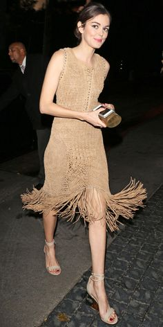 Get the details on Nora Zehetner's '20s inspired outfit!