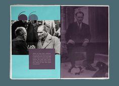 Ahmet Özdemir'in editoryal baskı çalışması: Mustafa Kemal Atatürk – Newspaper
