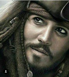 Johnny Depp as Jack Sparrow!