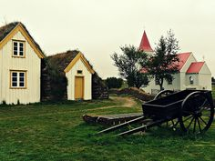 Traditional Icelandic turf houses #Iceland