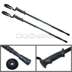 MX - 1 Pair Camping Hiking Adjustable Poles Antishock Trekking Walking Sticks OZ