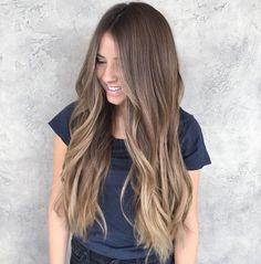 Image may contain: 1 person Brown Hair Balayage, Brown Blonde Hair, Light Brown Hair, Hair Color Balayage, Hair Highlights, Hair Affair, Human Hair Extensions, Hair Day, Hair Looks