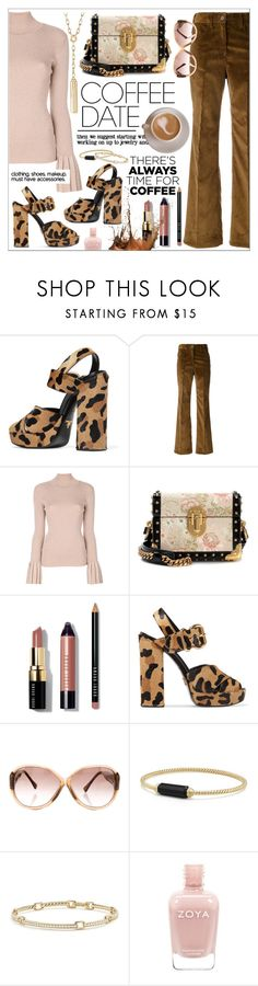 Buzz Worthy * Coffee Date by calamity-jane-always on Polyvore featuring Carven, Prada, David Yurman, Louis Vuitton, Bobbi Brown Cosmetics, davidyurman, fashionset and CoffeeDate