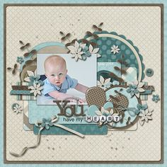 scrapbook page idea using kits from Connie Prince