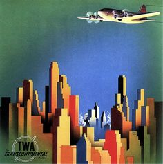 TWA, The Transcontinental Airline. 1940