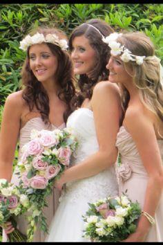 bridesmaid flower crown - Google Search