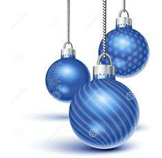 Blue xmas balls