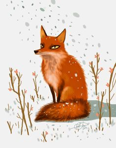 Characters: animals by Ana Varela, via Behance Animal Drawings, Machine Embroidery, Illustration Art, Fox, Behance, Artwork, Pictures, Characters, Animals