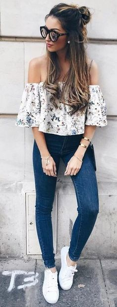 Floral + Denim                                                                             Source
