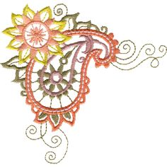 Free Embroidery Design: Paisley