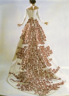 "Kate Daudy ""Wedding Dress"" Mark My Words: The Subversive History of Women Using Thread as Ink Sculpture Textile, Textile Artists, Boro, Mode Inspiration, Embroidery Art, Mode Style, Fabric Art, Wearable Art, Marie"