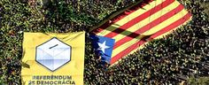 Barcellona, mezzo milione in corteo a favore del referendum per l'indipendenza della Catalogna