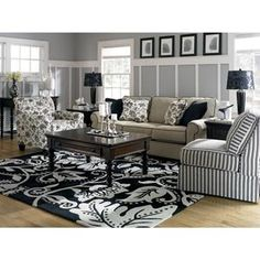 Ashley Sofa with Contrast Piping