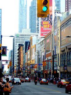 My lovely city ❤ Street Image, Street View, Toronto Street, Toronto Photos, Times Square, City, Travel, The Moon, Viajes