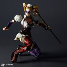 89.99$  Watch now - http://ali4rv.worldwells.pw/go.php?t=1565008347 - Square Enix Play Arts Kai Batman Arkham Asylum Harley Quinn Action Figure NEW IN BOX FREE SHIPPING