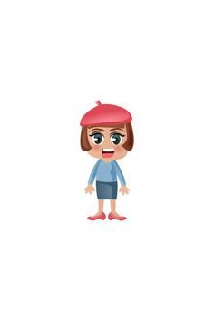 French Girl Vector Image #people #world http://www.vectorvice.com/people-world-vector