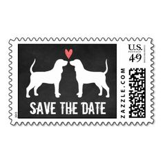 Coonhounds Wedding Save the Date Postage