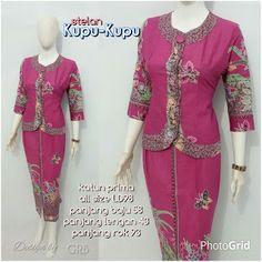Baju Batik Kerja Wanita, Grosir Batik Solo, Baju Batik Pria: Setelan Rok N Blus, Baju Batik Modern, Grosir Baju...