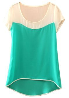 To find out about the Green Batwing Short Sleeve Dipped Hem Chiffon Blouse at SHEIN, part of our latest Blouses ready to shop online today! Structure Clothing, Scarf Dress, Cute Blouses, Lace Tops, Dress Patterns, Girl Fashion, Cool Outfits, Chiffon, Clothes For Women