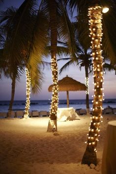 Beach sunset wedding..