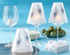 24 New Peacock Plume Vellum Wine Shades Wedding Decorations Favors | eBay