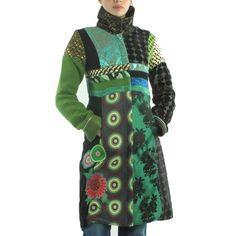 Manteaux DESIGUAL 96e2912-200 Vert Vert - Achat / Vente manteau - caban Manteaux DESIGUAL 96e2912-200 - Soldes* d'été Cdiscount