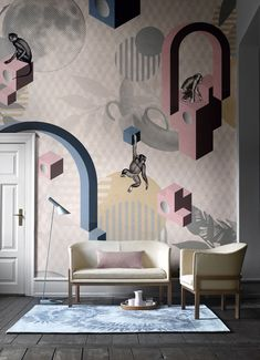 Wallcovering collection inspired by nature: Natural Beauty by Inkiostro Bianco Vinyl Wallpaper, Bathroom Wallpaper, Planet Of The Apes, Interior Decorating, Interior Design, Creative Thinking, Home Living, Designer Wallpaper, Paper Design