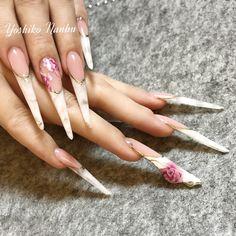 Long Nail Designs, Stiletto Nails, Love Nails, Manicures, Stilettos, Nail Art, Beautiful, Picture Wall, Fingernail Designs