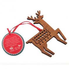 Wooden Pretty Deer Christmas Decoration, laser cut Christmas Decorations are a collaboration between Andrea Smith and Candy Stripe Cloud.