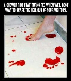 Gothic shower foot thing