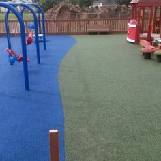 Dream Playground, Kenosha, WI.  -16,500 sq. ft. of poured in place surfacing. -100% ADA compliant playground featuring both a toddler and 5-12 year old playground.