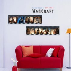3034 New Edition World Of Warcraft Cartoon Cinema Children House A Living Room Bedroom Wall Stickers Cartoon Decoration #Affiliate