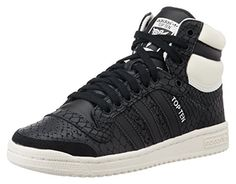 d8c039d88e9 adidas Damen Top Ten Hi Basketballschuhe, Schwarz (Core Black/Core Black/Off  White), 39 EU