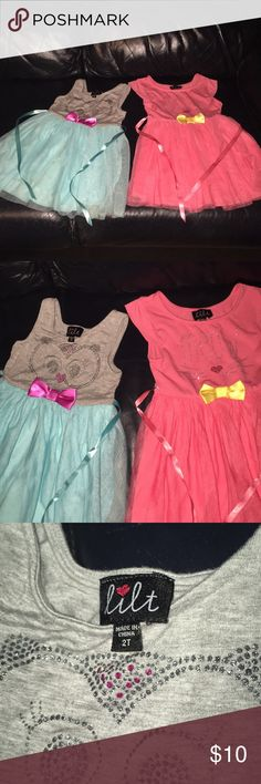 🔴5 for 20.00 🦋Lilt toddle dress Lilt toddler dresses~ adorable soft and so comfy.  In good used condition 🌺 Red dots 🔴 are 5 for 20.00 Dresses Casual