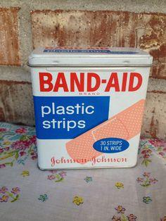 Vintage Band-Aid Brand Tin - Johnson & Johnson - Plastic Strips  on Etsy, $5.95