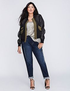 This military glam bomber is just as versatile as a blazer but with a cool…