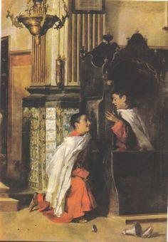 Altar boys and the confessional (Vicente Castell, Monaguillos en el confesionario ,1903)