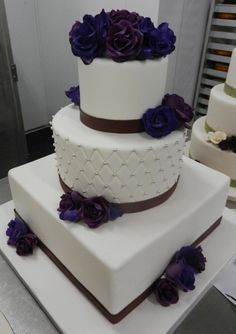 Bold purples and quilted texture with silver details
