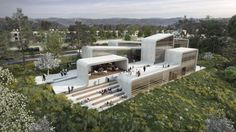 Neuman Hayner Architects Designs Conservatory in Israel Inspired by the Lines in Sheet Music,Courtesy of Neuman Hayner Architects