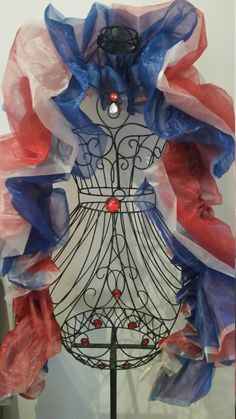 The Patriot: Red White and Blue Organza Boa by RoseVonSweet