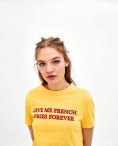 Zara French Fry Tee