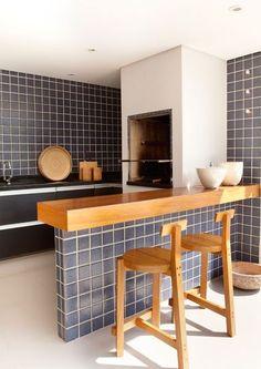 balcao-para-churrasqueira-lindo Decor, Interior, Cottage Homes, Awesome Bedrooms, Pub Interior, Home Decor, Outdoor Kitchen, Kitchen Design, Grill Design
